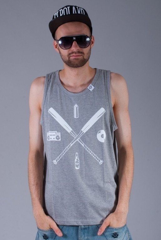 DIAMANTE WEAR KOSZULKA TANK TOP BASEBALL GREY