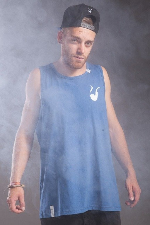 DIAMANTE WEAR KOSZULKA TOP TANK SMOKE PIPE BLUE