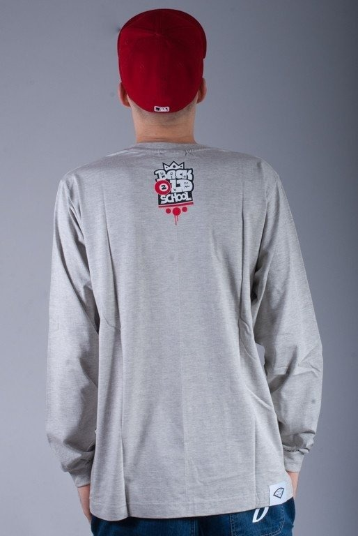 DIAMANTE WEAR LONGSLEEVE BACK 2 OLDSCHOOL MELANGE