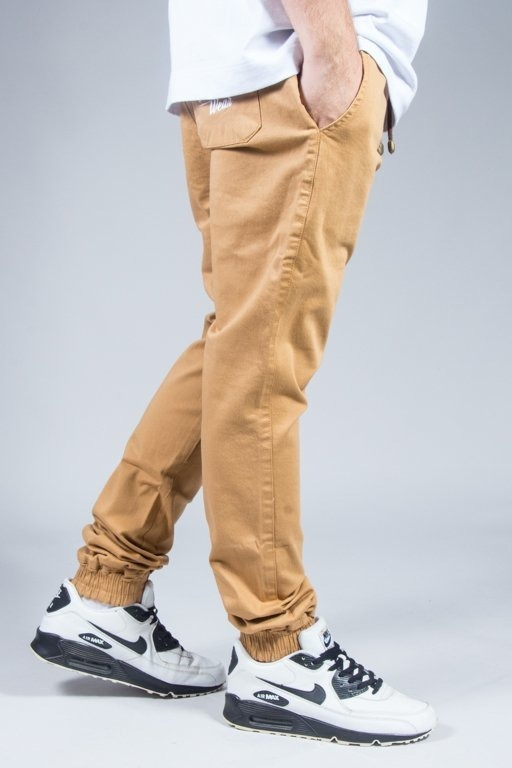 DIAMANTE WEAR PANTS CHINO JOGGER CLASSIC HONEY