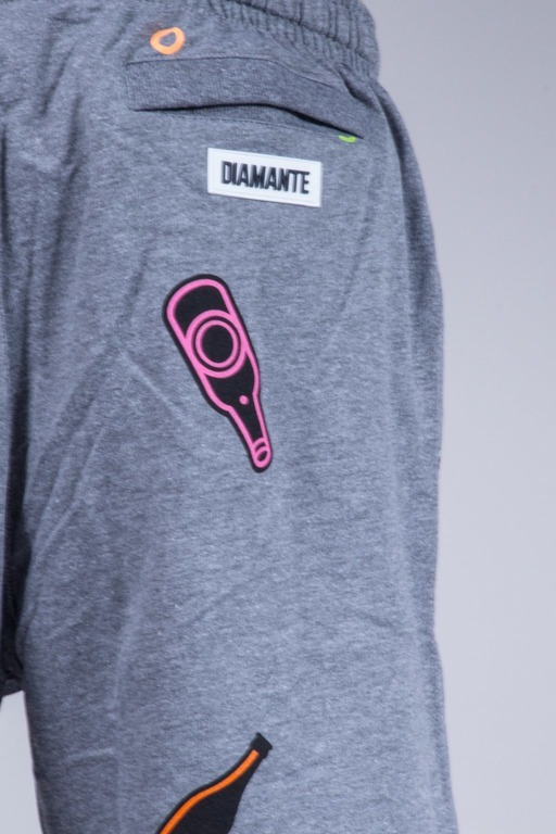DIAMANTE WEAR SPODNEKI KRÓTKIE ADVENTURE GREY