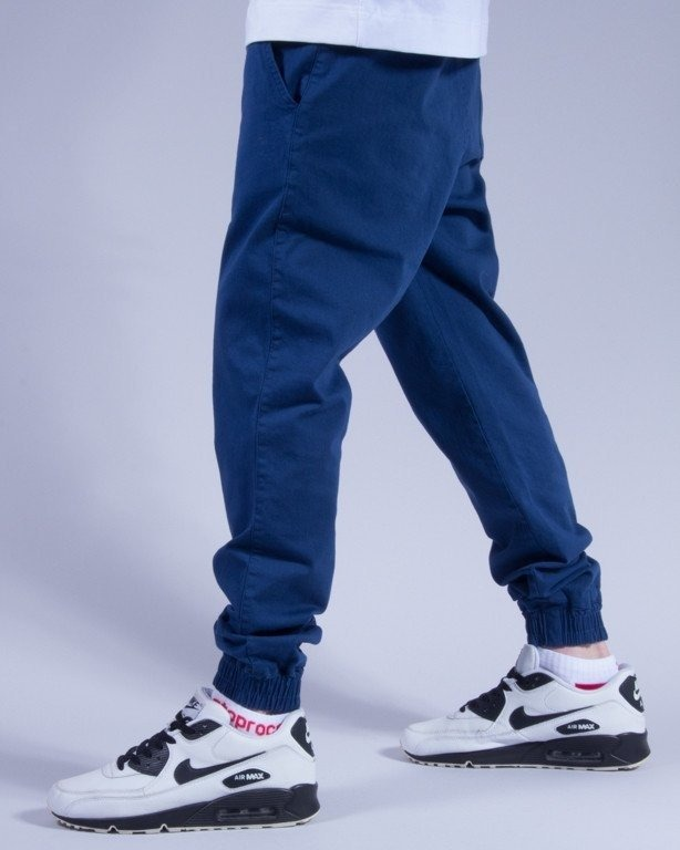 DIAMANTE WEAR SPODNIE CHINO JOGGER CLASSIC 2 BLUE