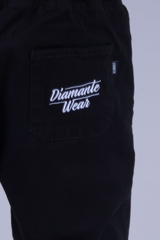 DIAMANTE WEAR SPODNIE CHINO JOGGER NEW BLACK