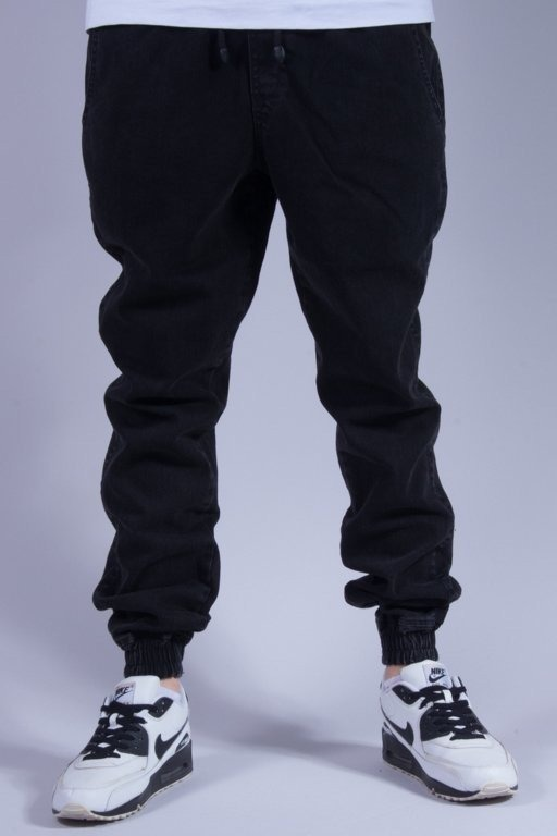 DIAMANTE WEAR SPODNIE JEANS JOGGER NEW BLACK