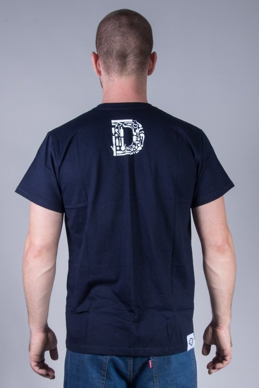 DIAMANTE WEAR T-SHIRT BOTTLE ICON NAVY