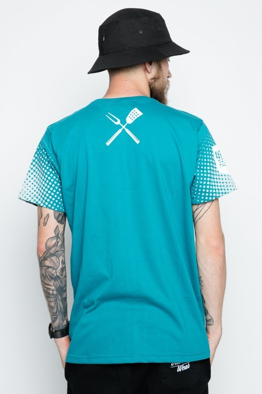 DIAMANTE WEAR T-SHIRT GRILL & BEER MINT