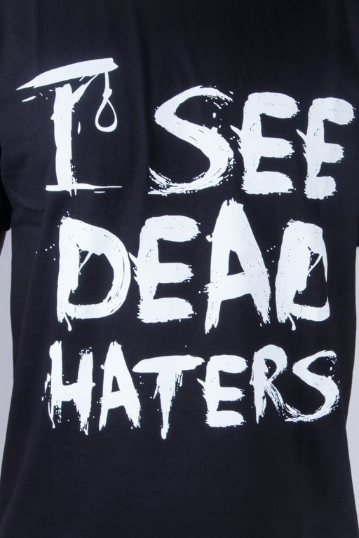 DIAMANTE WEAR T-SHIRT I SEE DEAD HATERS BLACK