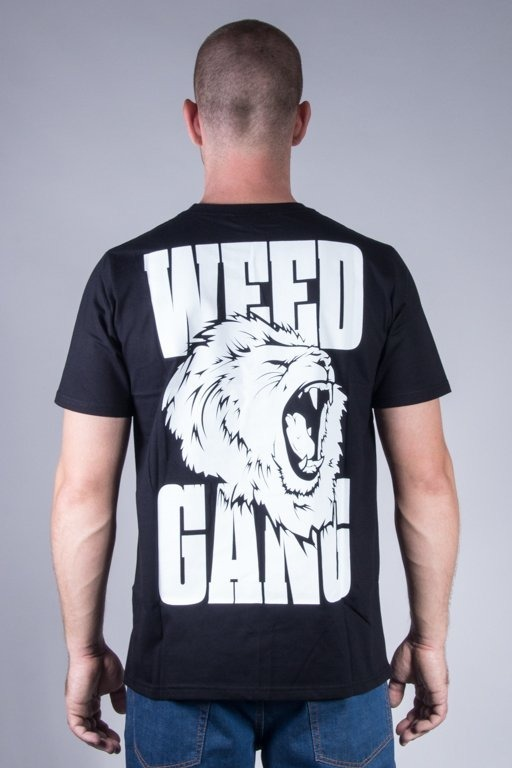 DIAMANTE WEAR T-SHIRT WEED GANG BLACK
