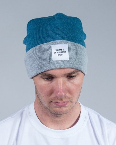 DIAMANTE WEAR WINTER CAP UNTOUCHABLE CREW MINT-GREY