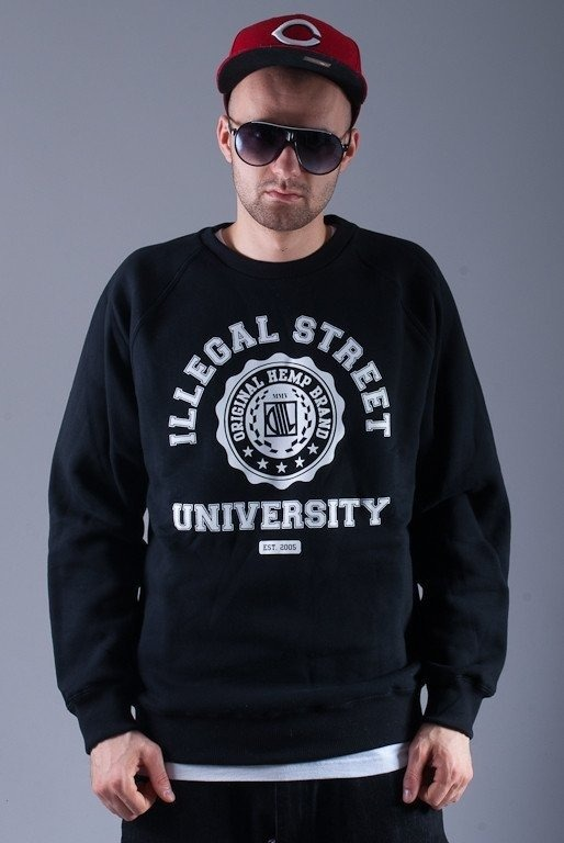 DIIL BLUZA BEZ KAPTURA UNIVERSITY BLACK