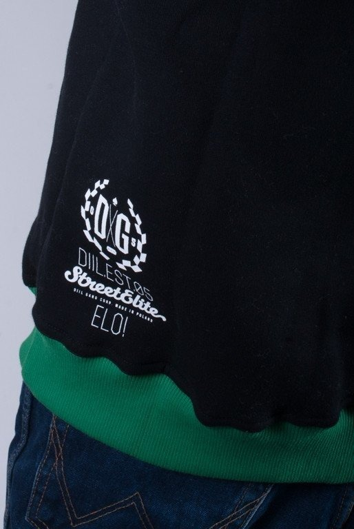 DIIL BLUZA Z KAPTUREM HARVARD BLACK-GREEN