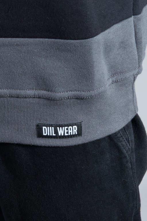 DIIL CREWNECK OUTLINE BLACK-GREY