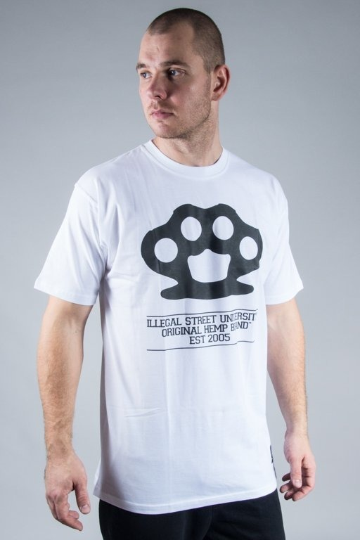 DIIL T-SHIRT KNUCKLES WHITE
