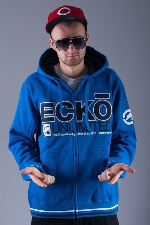 ECKO BLUZA Z KAPTUREM ZIP AMOR DARK BLUE
