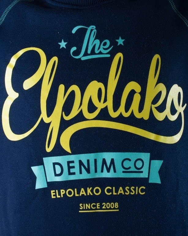 EL POALKO BLUZA BEZ KAPTURA THE EL POLAKO NAVY BLUE