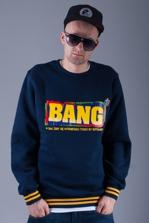 EL POLAKO BLUZA BEZ KAPTURA BANG NAVY BLUE