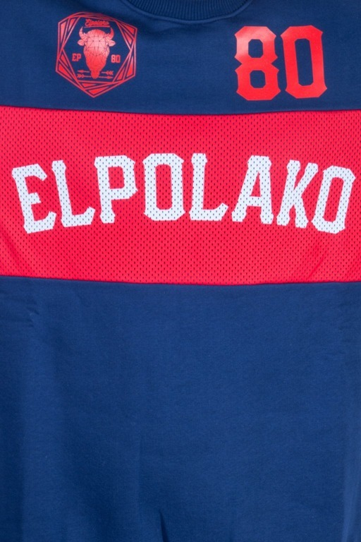EL POLAKO BLUZA BEZ KAPTURA BELT NAVY