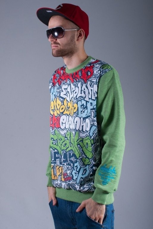 EL POLAKO BLUZA BEZ KAPTURA BLACKBOOK GREEN