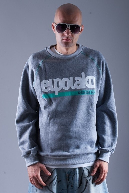 EL POLAKO BLUZA BEZ KAPTURA DENIM GREY