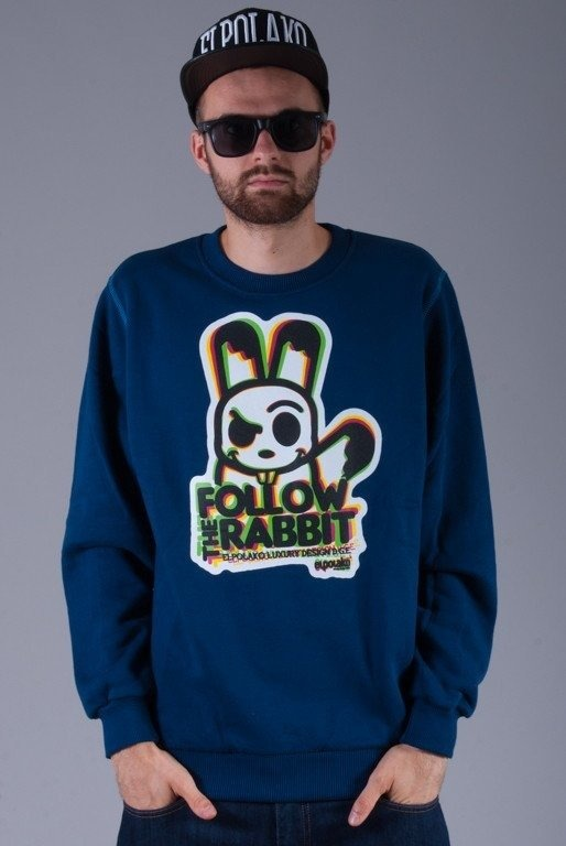 EL POLAKO BLUZA BEZ KAPTURA FOLLOW NAVY BLUE
