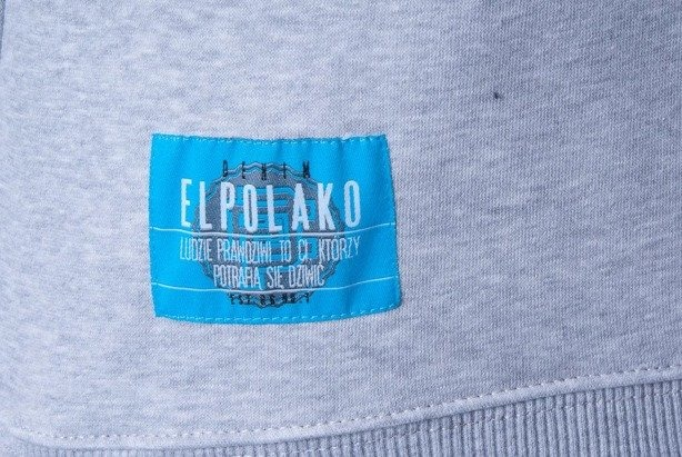 EL POLAKO BLUZA BEZ KAPTURA LTD LUXURY MELANGE