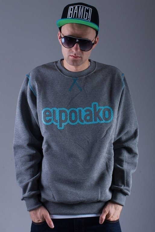 EL POLAKO BLUZA BEZ KAPTURA PLUS GREY