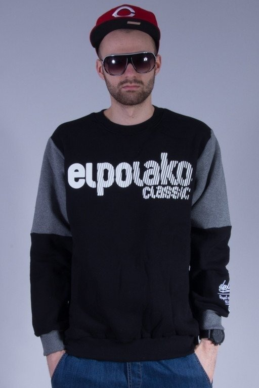 EL POLAKO BLUZA BEZ KAPTURA SHADOW BLACK