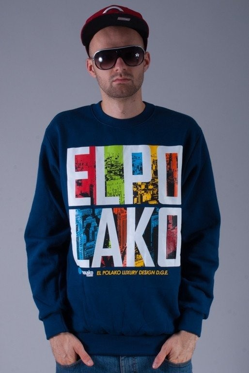 EL POLAKO BLUZA LTD BIRDS NAVY BLUE