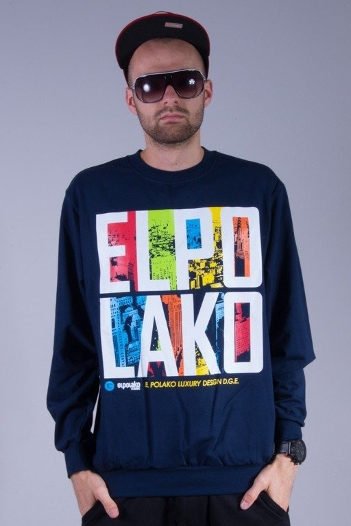 EL POLAKO BLUZA LTD LIGHT BIRDS NAVY