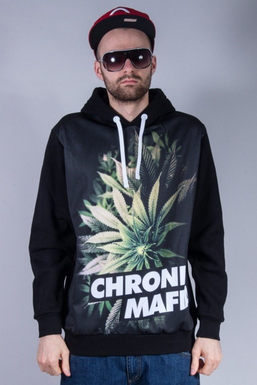 EL POLAKO BLUZA Z KAPTUREM CHRONIC BLACK