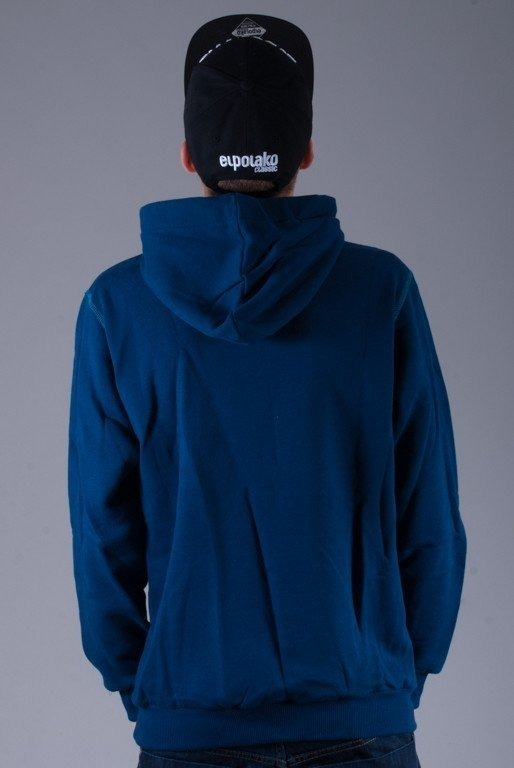 EL POLAKO BLUZA Z KAPTUREM FOLLOW NAVY BLUE
