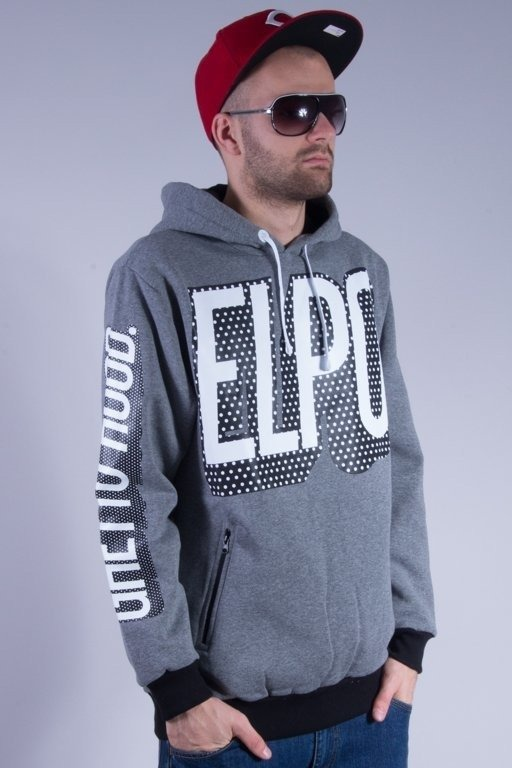 EL POLAKO BLUZA Z KAPTUREM PREMIUM GHETTO GREY