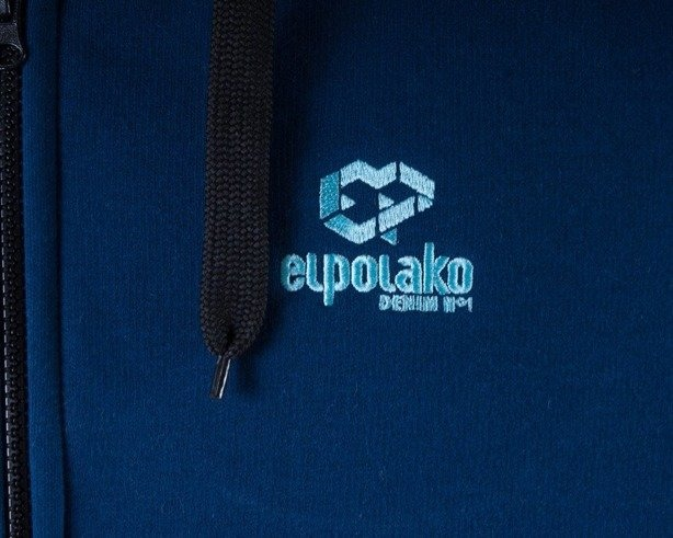 EL POLAKO BLUZA Z KAPTUREM ZIP E NAVY BLUE