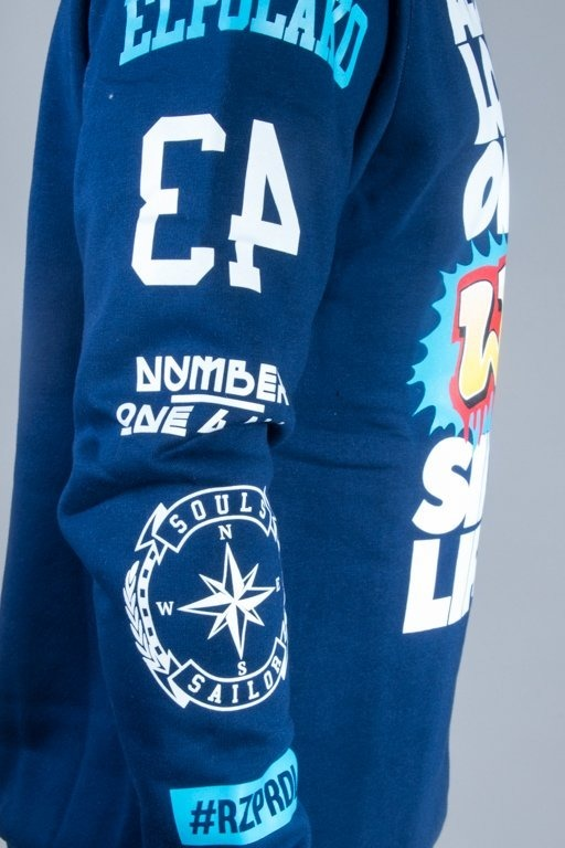 EL POLAKO CREWNECK ALWAYS LOOK NAVY