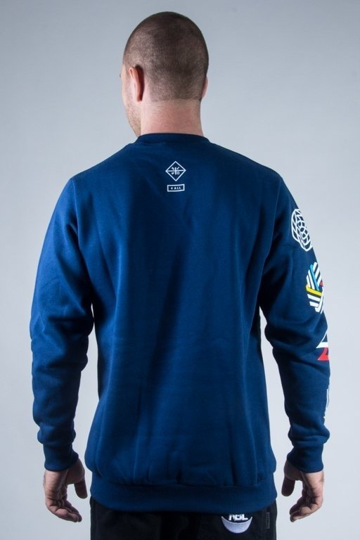 EL POLAKO CREWNECK GEOMETRIC NAVY