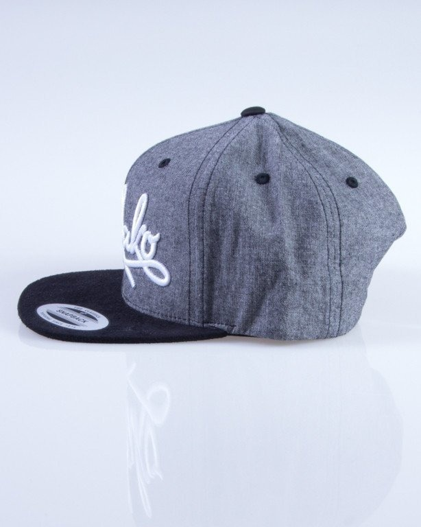 EL POLAKO CZAPKA SNAPBACK WRITTEN ROYAL GREY-BLACK