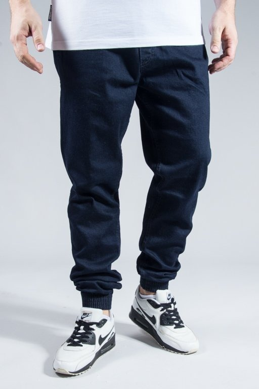 EL POLAKO PANTS JEANS JOGGER POCKET GRAFFITI DARK