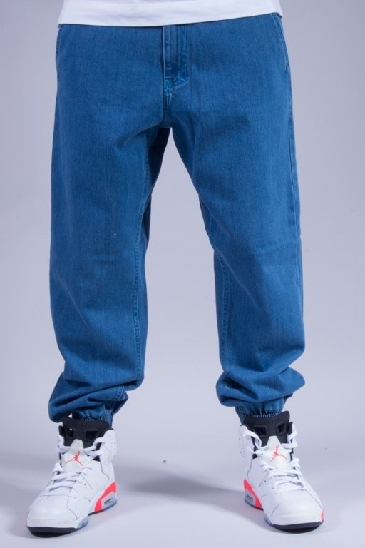 EL POLAKO SPODNIE JEANS JOGGER CALIGRAPHY LIGHT