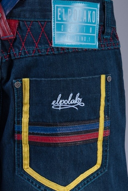 EL POLAKO SPODNIE JEANS KING KONG BAGGY DARK BLUE
