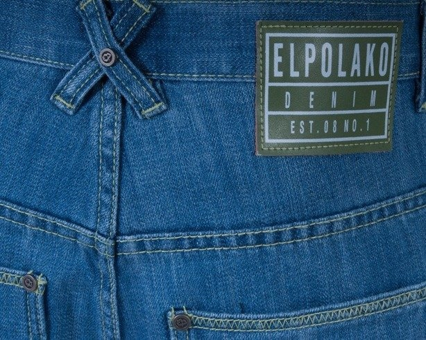 EL POLAKO SPODNIE JEANS PANDA LIGHT BLUE