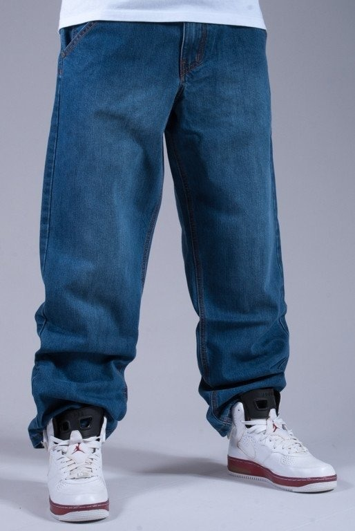EL POLAKO SPODNIE JEANS WOLF BAGGY LIGHT BLUE