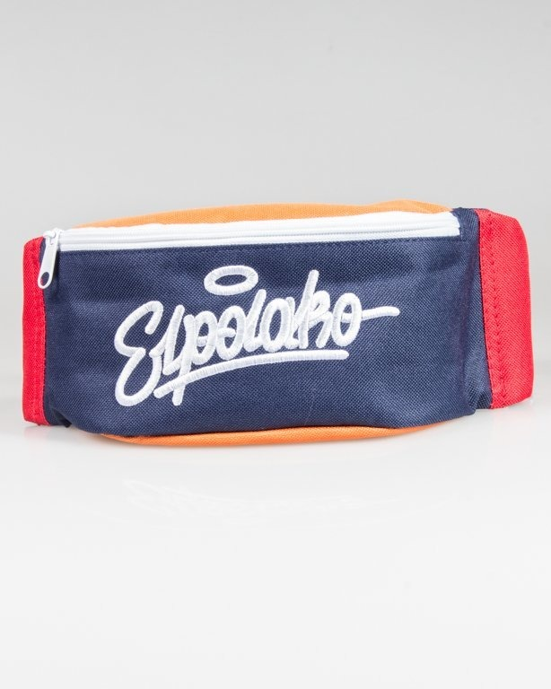 EL POLAKO STREETBAG WRITTEN 3COLORS NAVY-RED