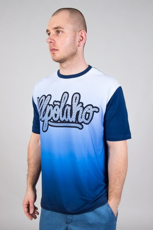 EL POLAKO T-SHIRT COLOR GRADIENT BLUE