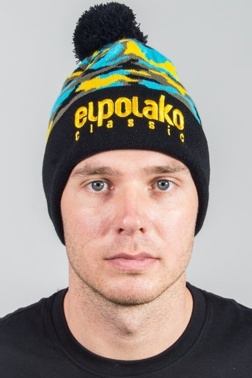 EL POLAKO WINTER CAP POMPON EP MORO BLUE