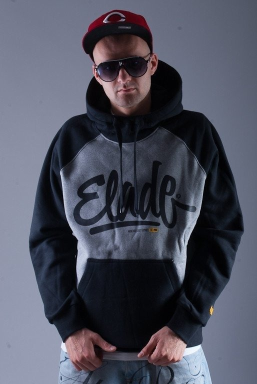 ELADE BLUZA Z KAPTUREM DOUBLE CLIDE GREY
