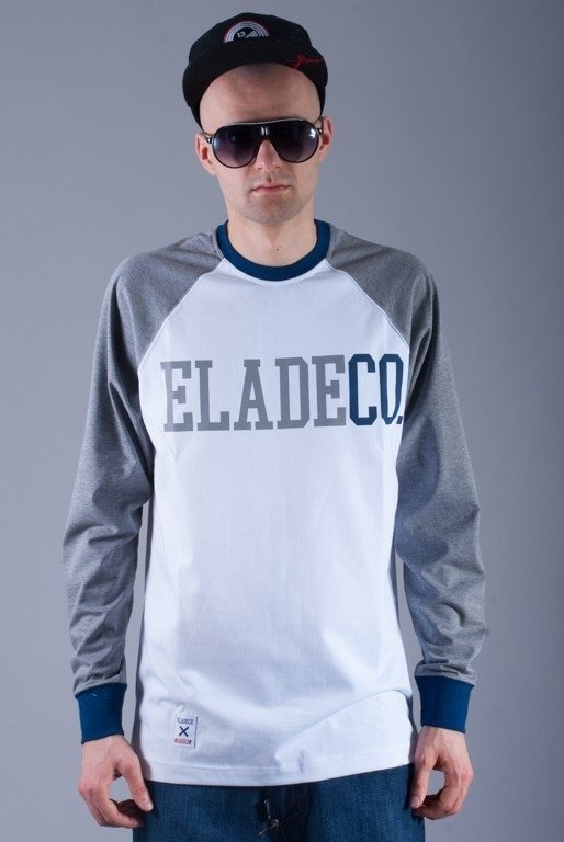 ELADE LONGSLEEVE COLLEGE WHITE-GREY