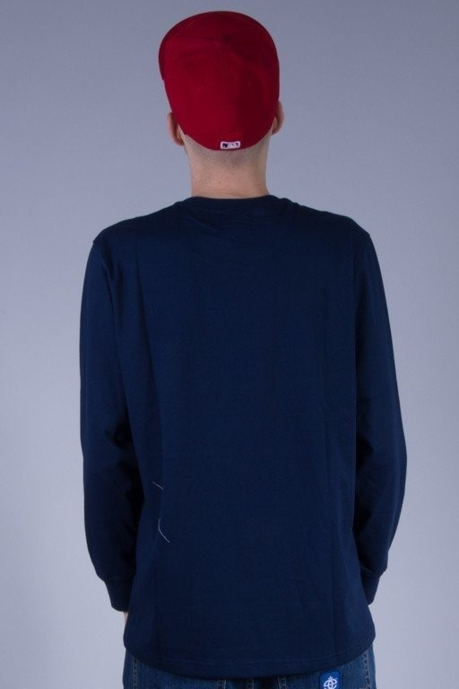 ELADE LONGSLEEVE WHITE STRIP BRICK-NAVY
