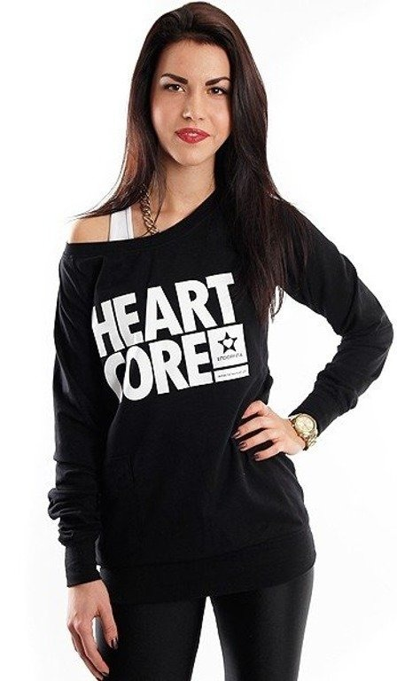 ENDORFINA BLUZA BEZ KAPTURA HEARTCORE BLACK