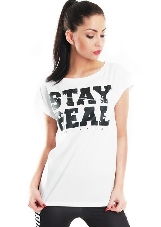 ENDORFINA T-SHIRT STAY REAL WHITE