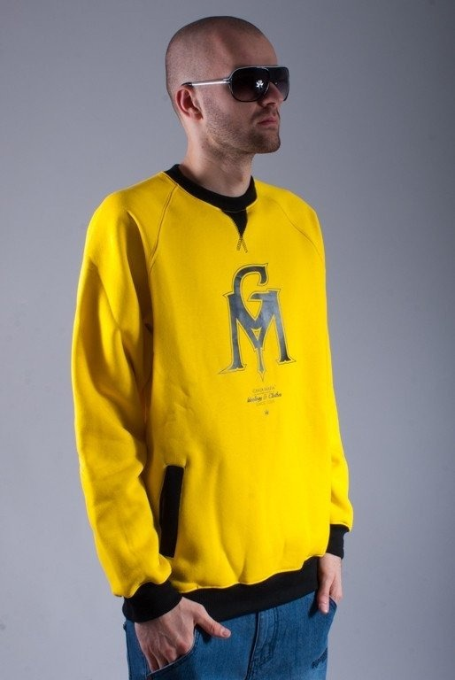 GANJA MAFIA BLUZA BEZ KAPTURA GM YELLOW